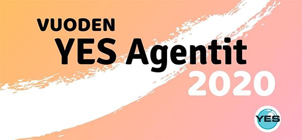 Vuoden YES Agentit 2020 koristeellinen kuvitus.
